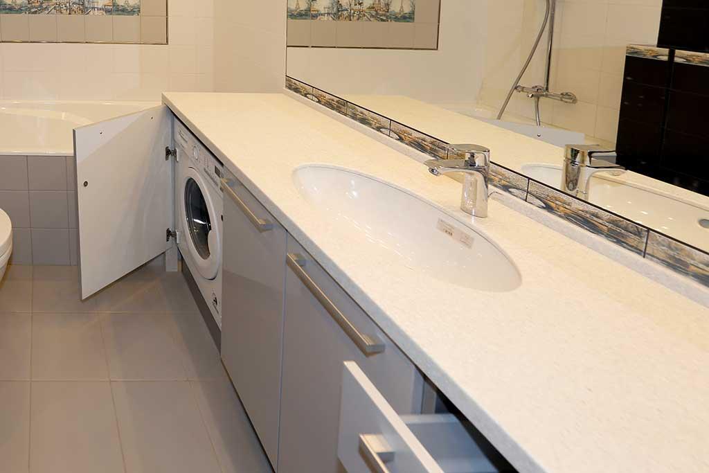 Тумба для ванной комнаты с плоскими фасадами Mira