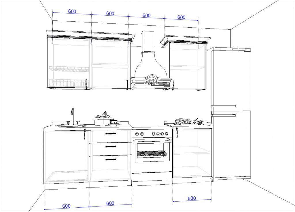 Кухонный гарнитур WOOD NATURAL